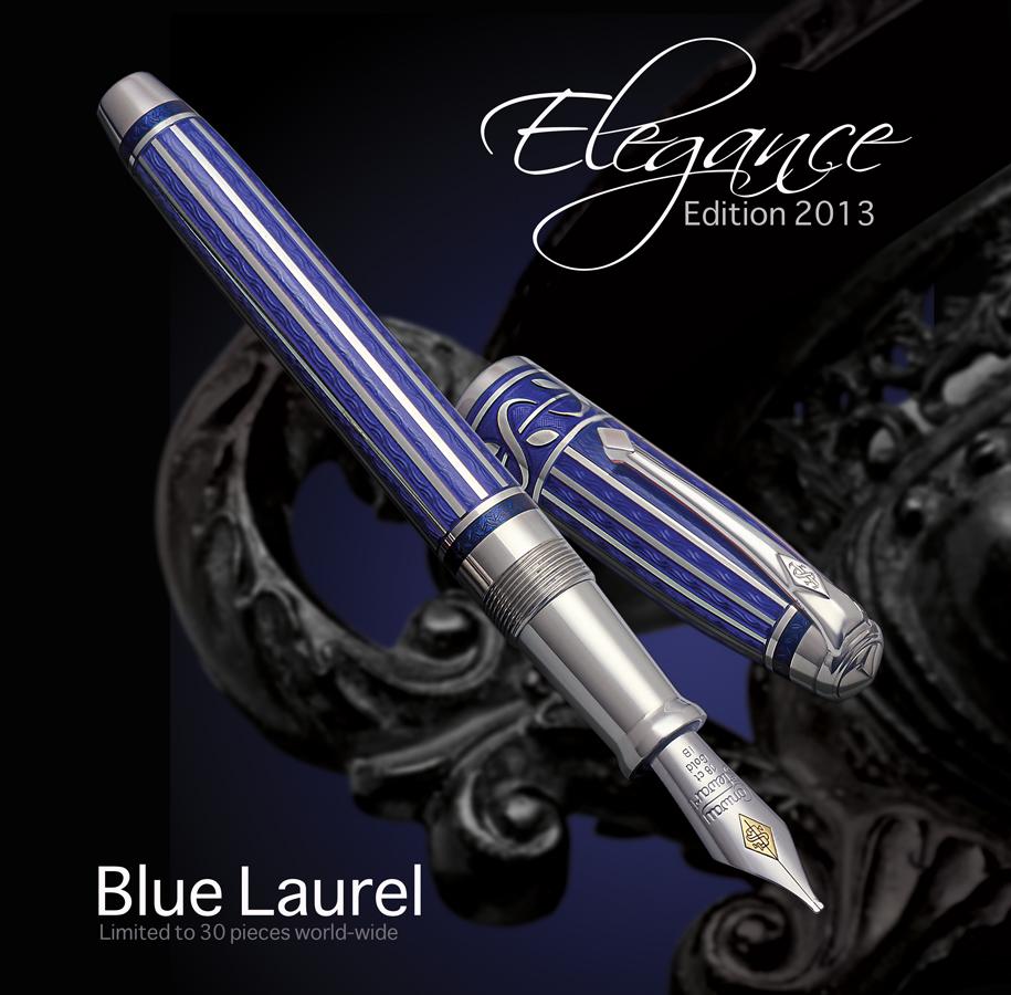 Conway Stewart Elegance Pen of the Year 2013 Blue Laurel