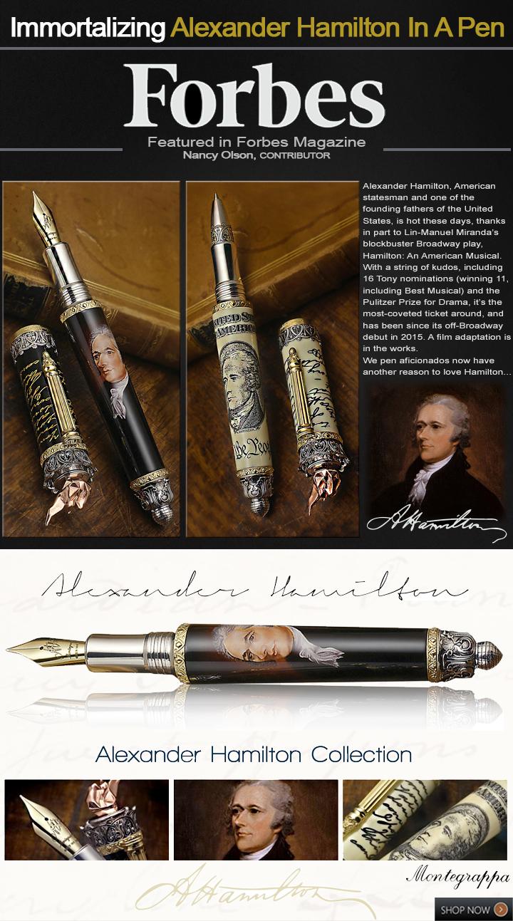 Montegrappa Alexander Hamilton Limited Edition Pens