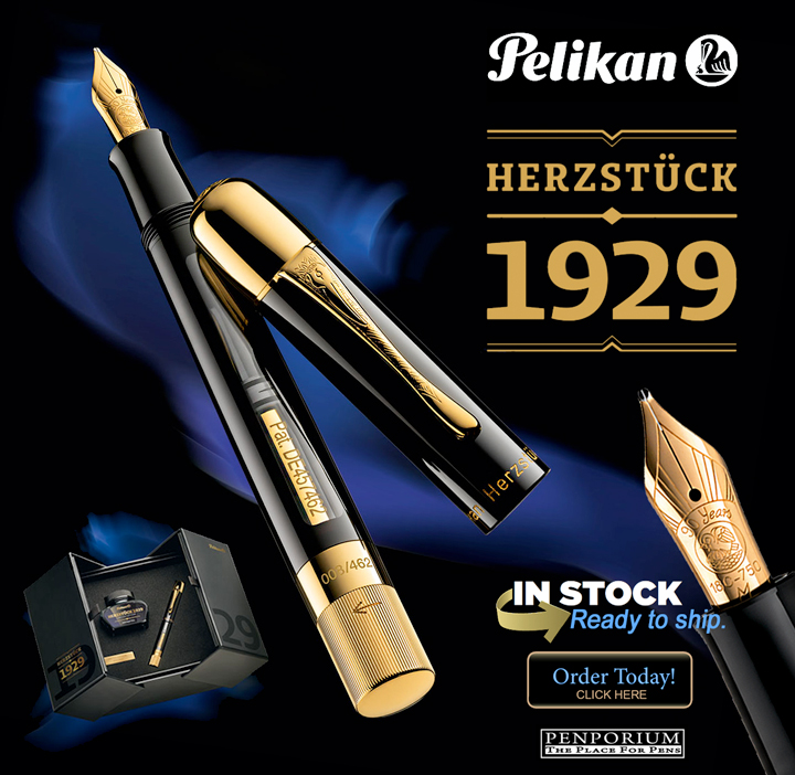 "PELIKAN ""HERZSTUCK 1929"" LIMITED EDITION FOUNTAIN PEN M 812599"