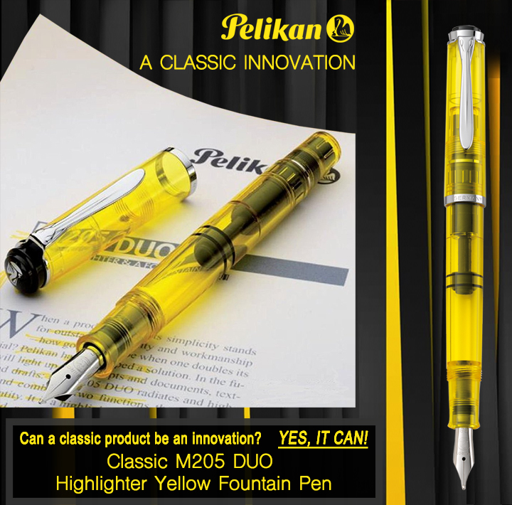PELIKAN HIGHLIGHTER FOUNTAIN PEN